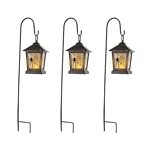 3 Bornes De chemin d'accès lanternes à DEL avec minuterie