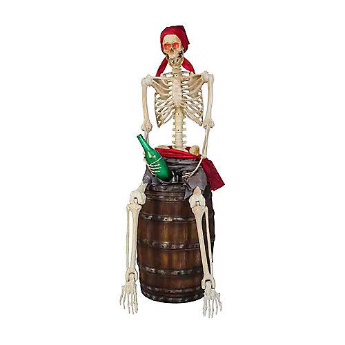 1,4 m Pirate squelette à DEL ANIMÉ
