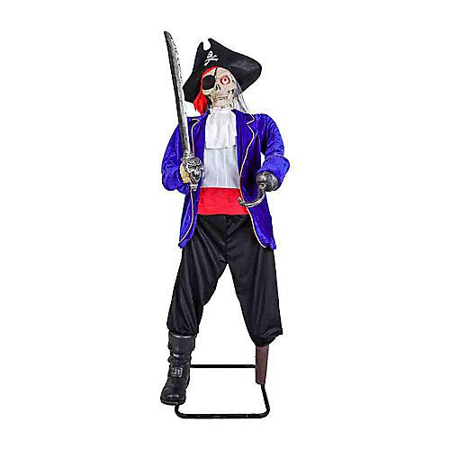 1,52 m Pirate squelette à DEL ANIMÉ