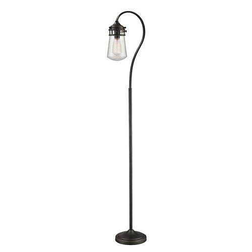Lampadaire à 1 Lumière, Bronze Olde et Verre Transparent - 10,375 inch