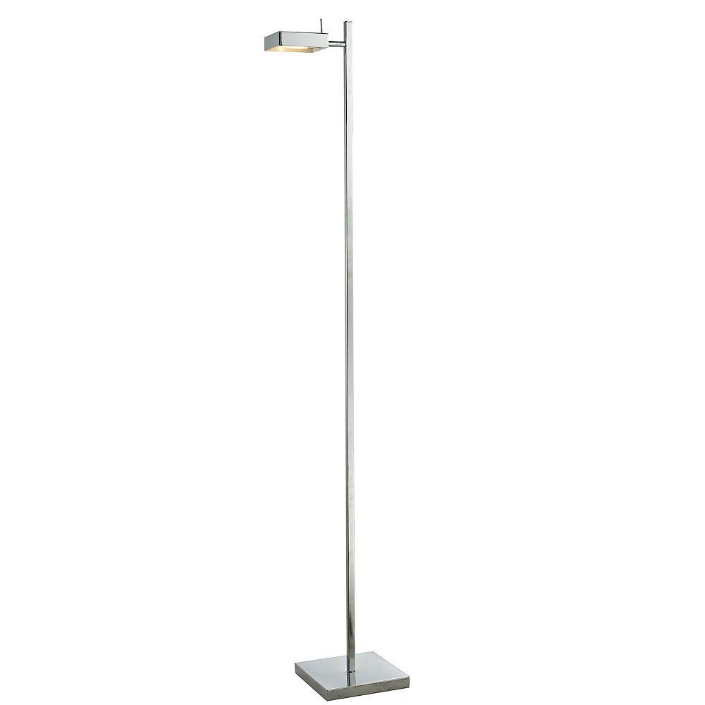 Filament Design Lampadaire à 1 ampoule chrome avec abat-jour en acier chromé
