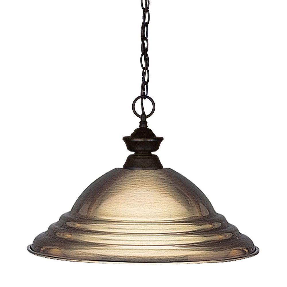 Filament Design 1-Light Bronze Pendant with Antique Bronze Steel Shade - 15.75 inch