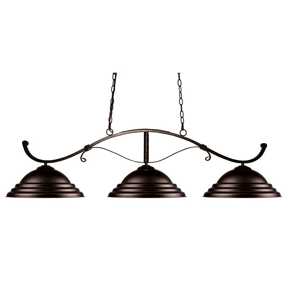 Filament Design 3-Light Bronze Island/Billiard with Bronze Steel Shade - 52 inch