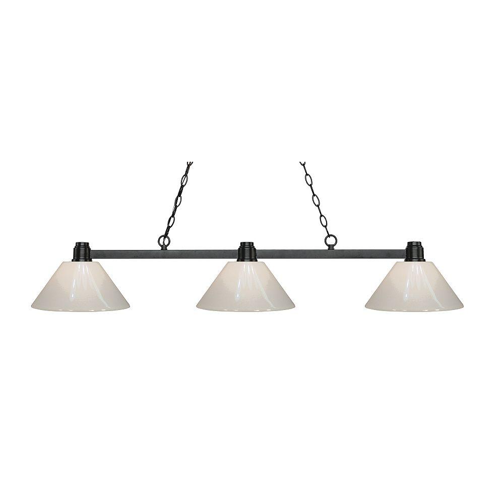 Filament Design 3-Light Bronze Island/Billiard with White Plastic - 53 inch