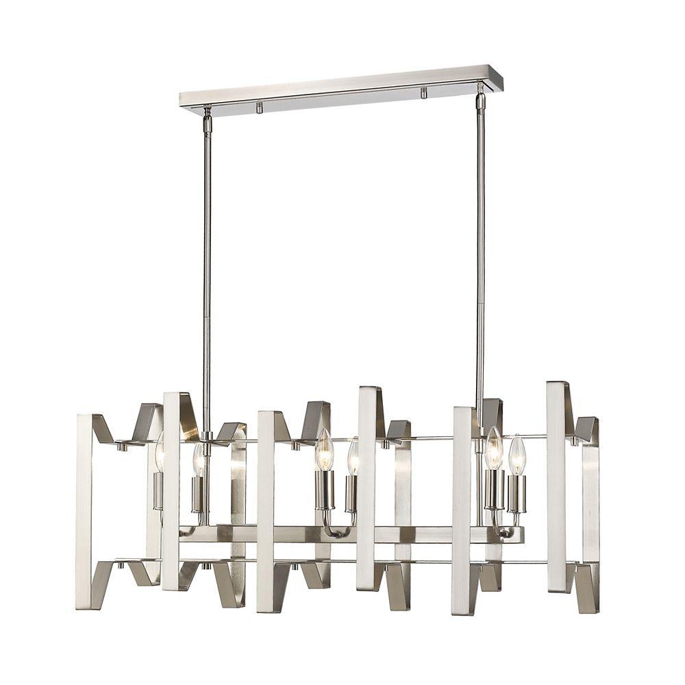 Filament Design 6-Light Brushed Nickel Island/Billiard - 34 inch