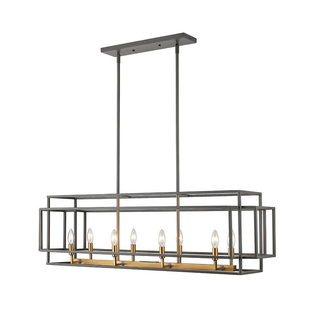 Filament Design 8-Light Bronze and Olde Brass Island/Billiard - 44 inch