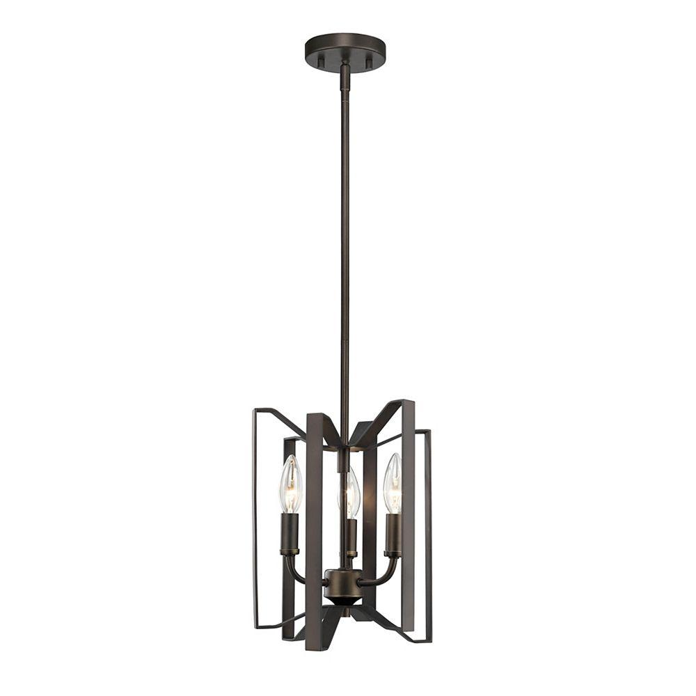 Filament Design 3-Light Bronze Mini Pendant - 9 inch