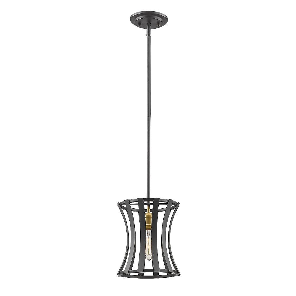 Filament Design Mini-suspension à 1 ampoule bronze or avec abat-jour en acier bronze or