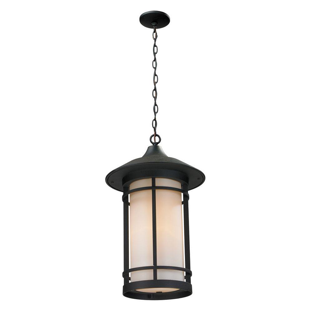 Filament Design Luminaire d'extérieur noir à 1 lumière avec verre opale mat