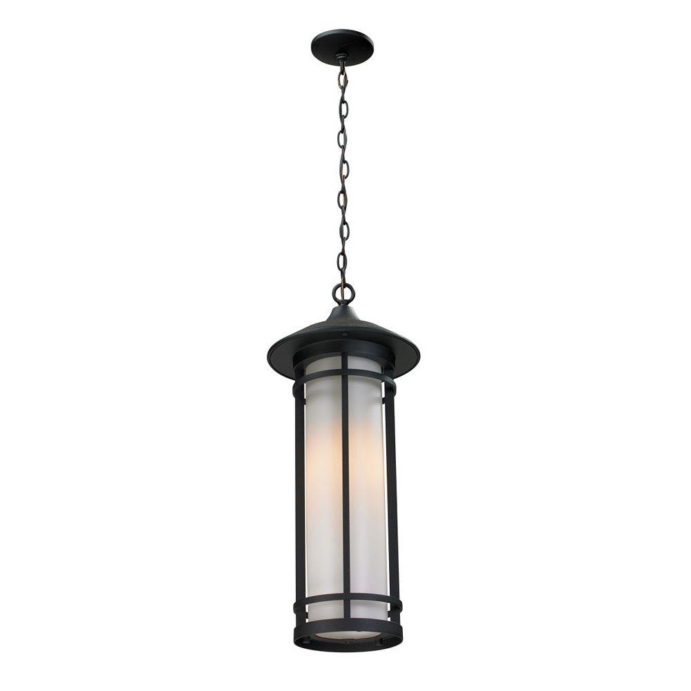 Filament Design Luminaire d'extérieur noir à 1 lumière avec verre opale mat - 10 pouces