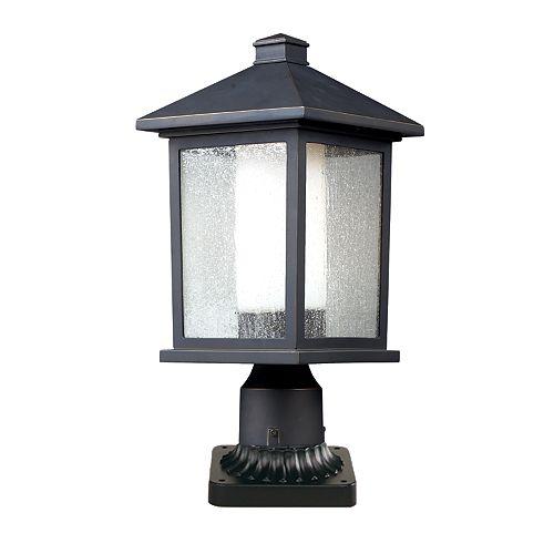 Plafonnier extérieur à 1 ampoule au fini bronze huilé
