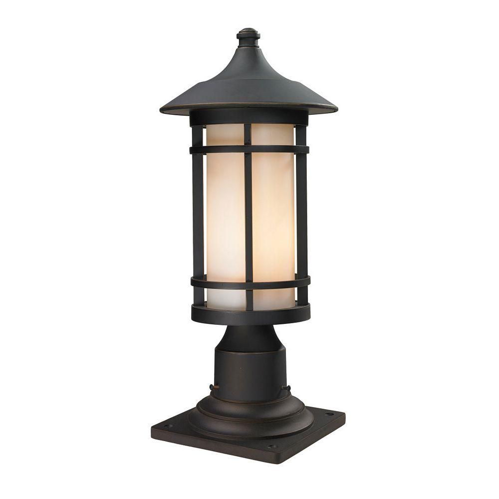 Filament Design 1-Light Oil Rubbed Bronze Outdoor Pier Mount Light with Matte Opal Glass - 8.125 inch