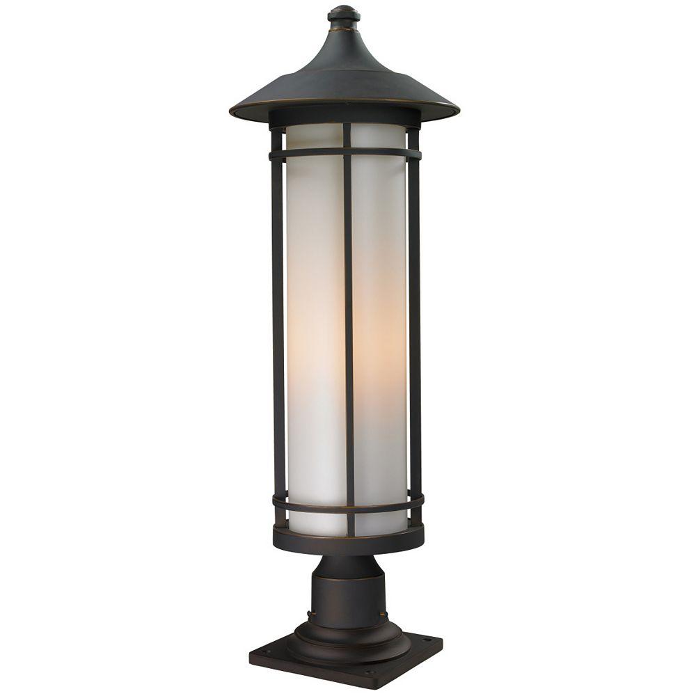 Filament Design 1-Light Oil Rubbed Bronze Outdoor Pier Mount Light with Matte Opal Glass - 10 inch