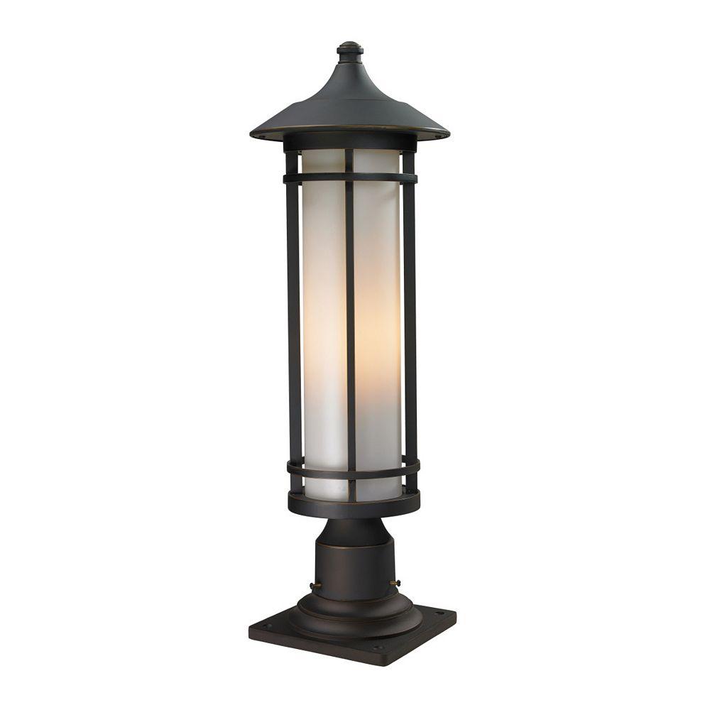 Filament Design Plafonnier extérieur à 1 ampoule au fini bronze huilé avec abat-jour en verre opale mat