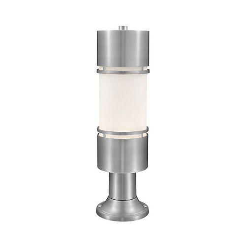 Plafonnier extérieur à 1 ampoule et abat-jour en aluminium brossé avec verre opale mat - 5,88 pouces