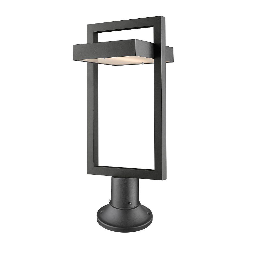 Filament Design Projecteur extérieur à 1 ampoule LED noir avec verre dépoli - 10,5 pouces