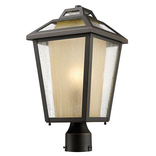 Lampadaire extérieur à 1 lampe, à DEL, bronze pour jardin