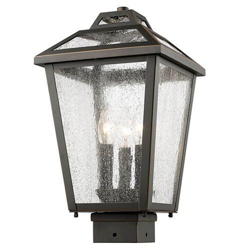 Lampadaire extérieur à 3 ampoules Dimmable avec bronze à givre clair