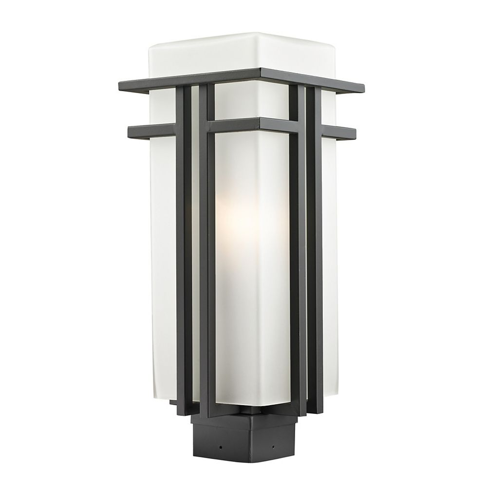 Filament Design Lampadaire extérieur à 1 ampoule d'extérieur bronze frotté avec verre opale mat - 7,75 pouces