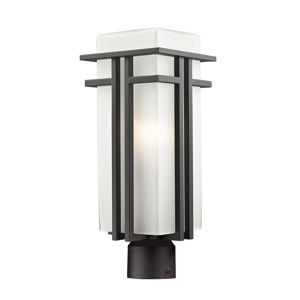 Filament Design Lampadaire extérieur à 1 ampoule d'extérieur à intensité variable, bronze frotté et verre opale mat, 7,75 pouces