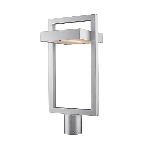 Lampadaire extérieur à 1 ampoule DEL à DEL avec verre dépoli, 10,5 po