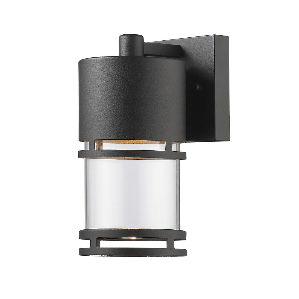 Filament Design 1-Light Black Outdoor Wall Sconce with Clear Glass - 5.5 inch