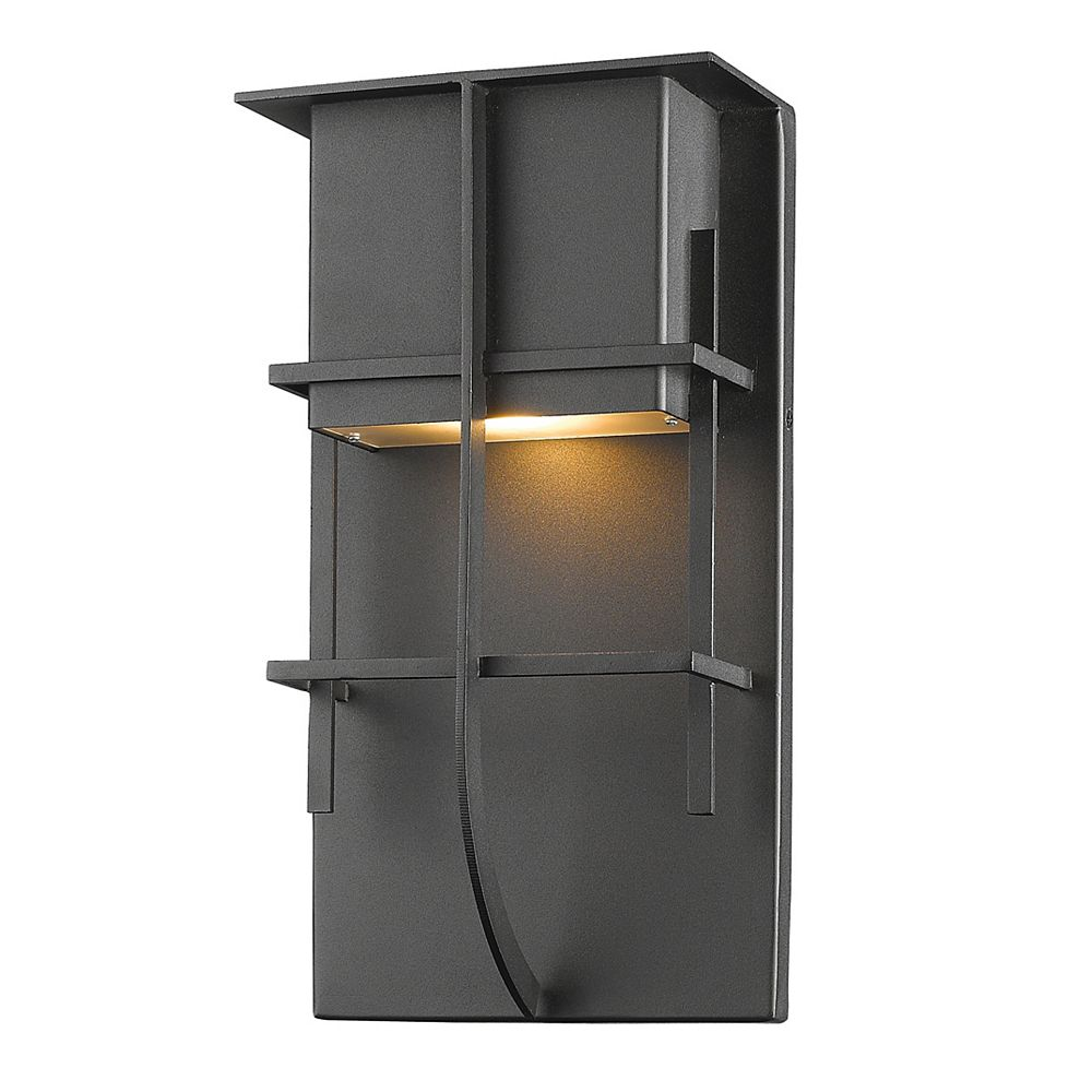 Filament Design 1-Light Black Outdoor Wall Sconce - 5.25 inch