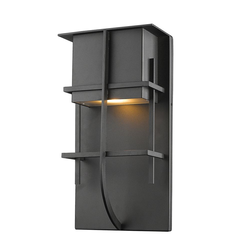 Filament Design 1-Light Black Outdoor Wall Sconce - 4 inch
