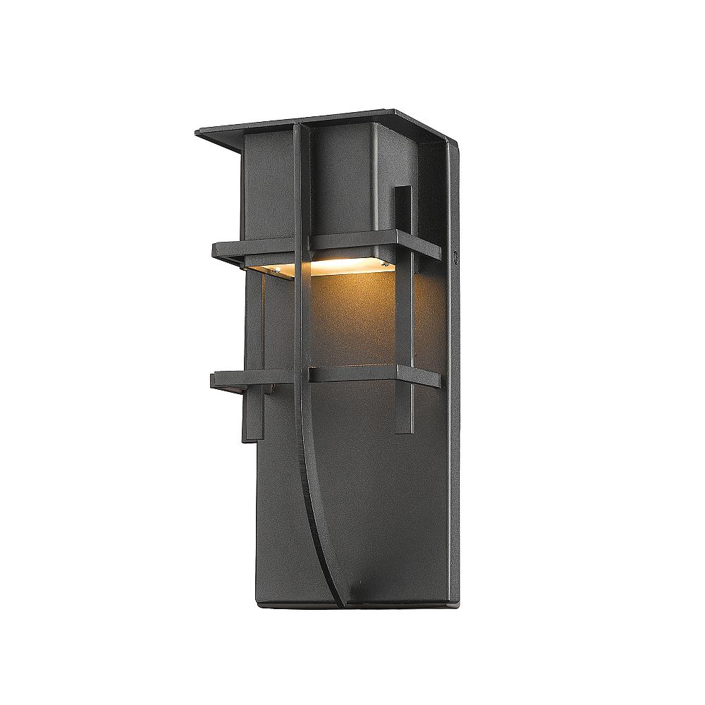 Filament Design 1-Light Black Outdoor Wall Sconce - 3.88 inch