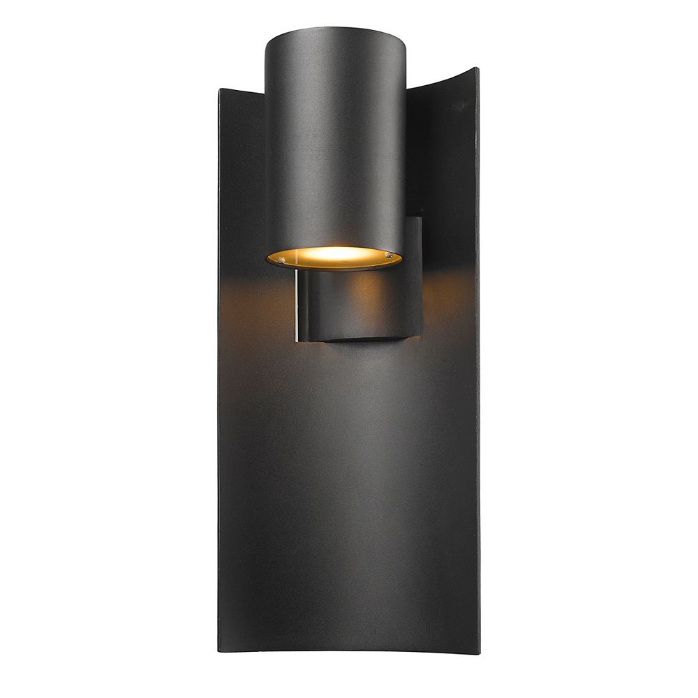 Filament Design 1-Light Black Outdoor Wall Sconce - 5.88 inch