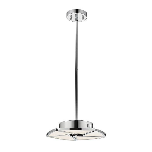 Filament Design 1-Light Chrome Pendant with White Acrylic Shade - 13 inch