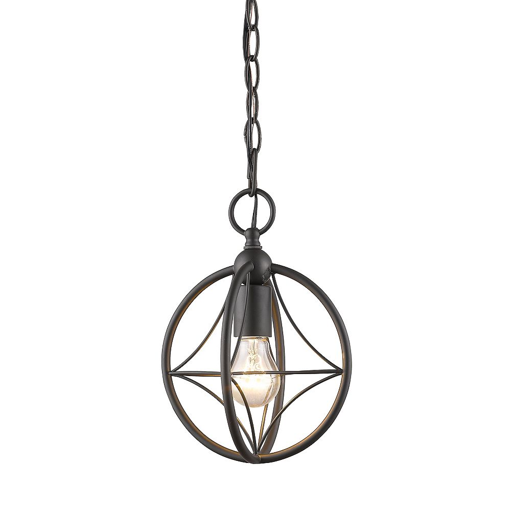 Filament Design 1-Light Bronze Pendant with Bronze Steel Shade - 8 inch
