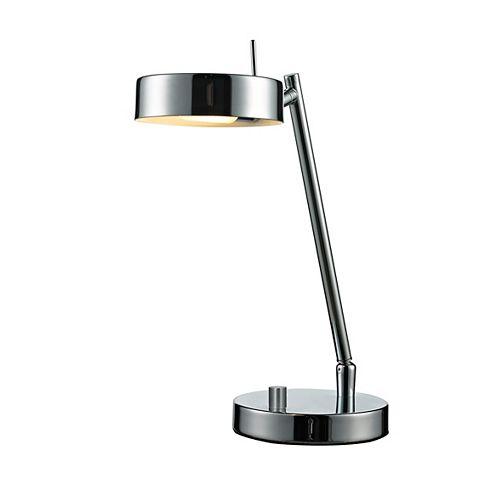 Lampe de table à 1 lumière, chrome avec abat-jour en acier chromé - 7,4 pouces