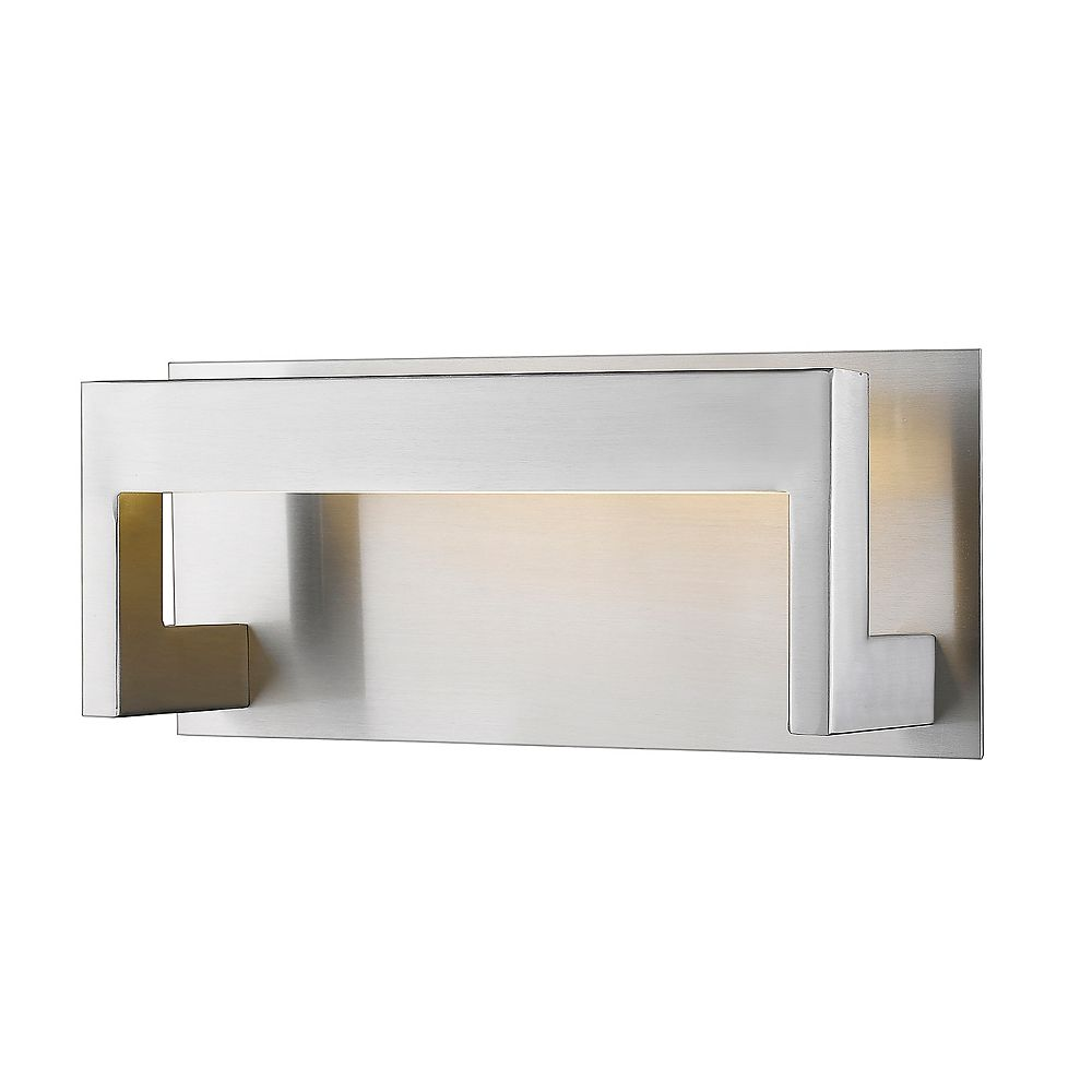 Filament Design 1-Light Brushed Nickel Wall Sconce with Frosted Acrylic Shade - 4 inch