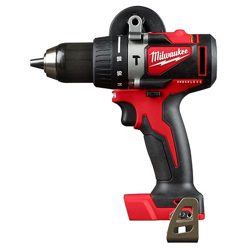 Milwaukee Tool M18 18V Lithium-Ion Brushless Cordless 1/2-Inch Compact Hammer Drill (Tool Only)