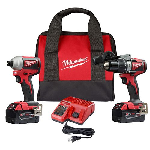 M18 18V Lithium-Ion Brushless Cordless Compact Hammer Drill/Impact Combo Kit (2-Tool)