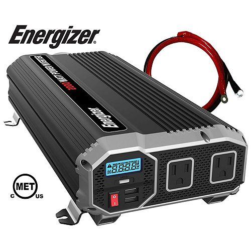 2000 Watt 12V DC to 120V AC Power Inverter