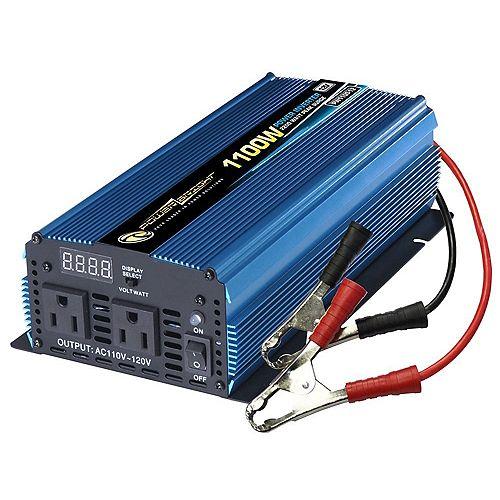 1100 Watt 12V DC to 120V AC Power Inverter