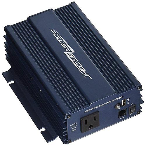 300 Watt 12V CC à 120V CA Onduleur à onde sinusoïdale pure