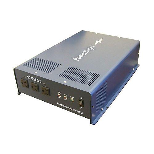 1500 Watt 12V CC à 120V CA Onduleur à onde sinusoïdale pure