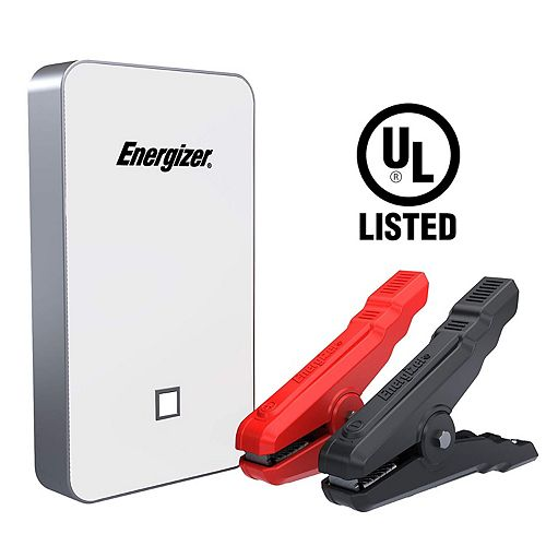 7500mAh UL listed lithium jump starter and 2.4A power bank (WHITE)