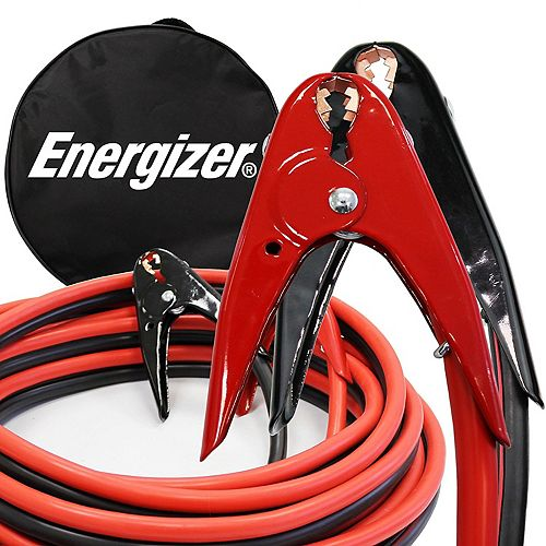 Energizer 2 gauge 20 foot 800 Amp professional jumper booster cables