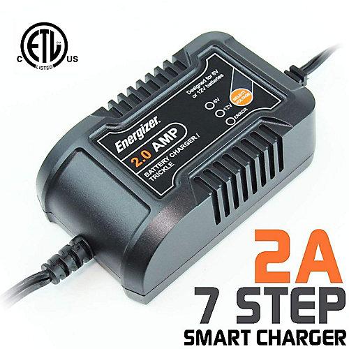 Battery Charger & Maintainer 6V / 12V batteries - 2A
