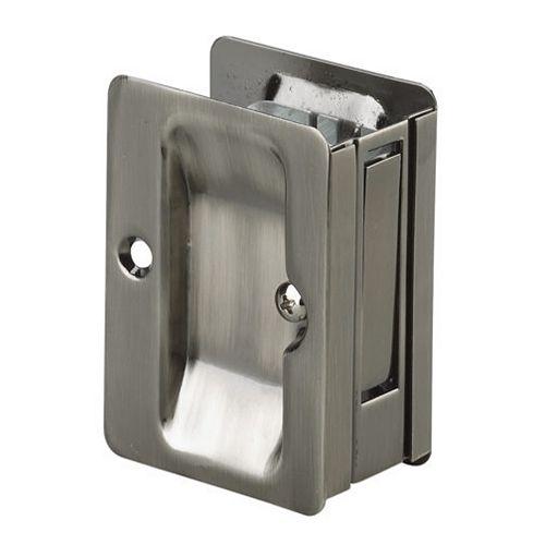 Pocket Door Pull, Passage Handle - Left and Right compatible - Antique Nickel
