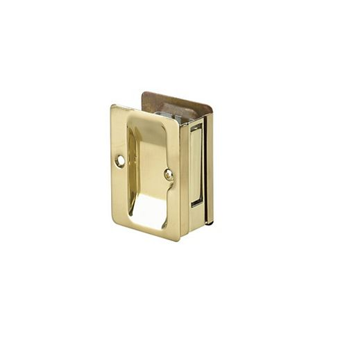 Pocket Door Pull, Passage Handle - Left and Right compatible - Brass