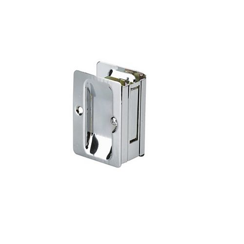Pocket Door Pull, Passage Handle - Left and Right compatible - Chrome