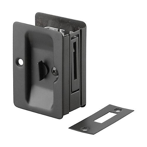 Poignée pour porte escamotable - Privée  - Compatible gauche et droite - Noir