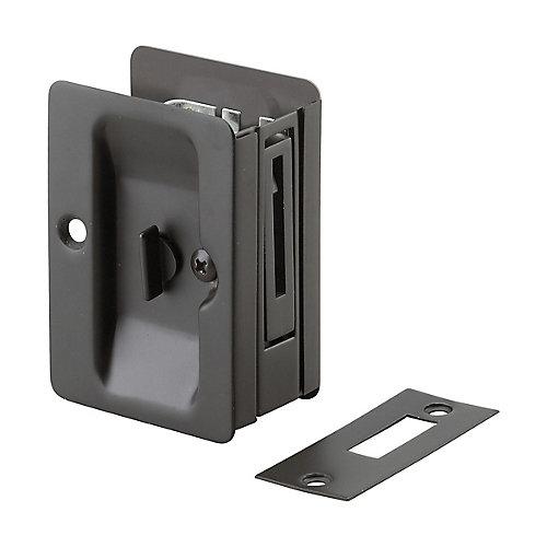 Poignée pour porte escamotable - Privée  - Compatible gauche et droite - Bronze huilé
