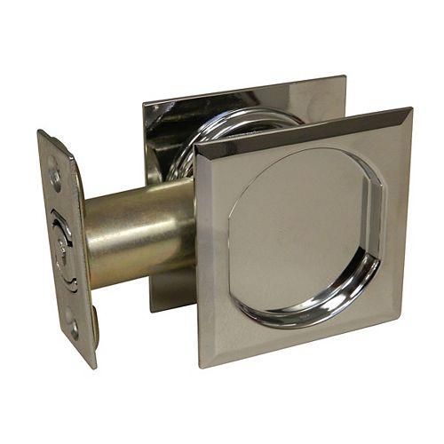 Pocket Door Pull - Square - Passage, Chrome