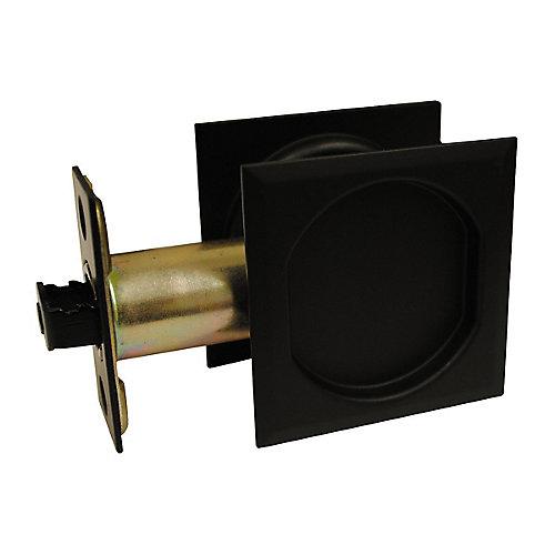 Poignée pour porte escamotable - Passage - carrée, Noir